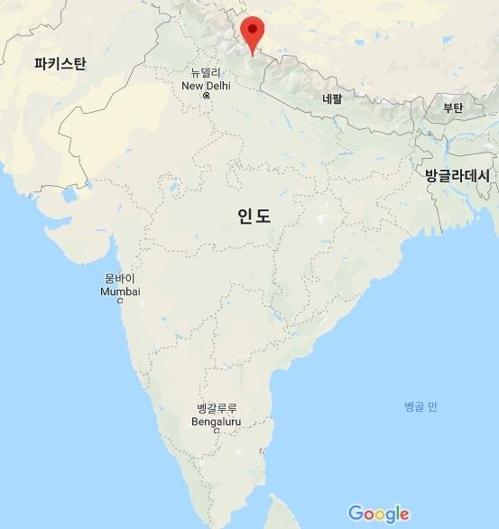 루프쿤드 호수 지점(빨간색) [구글맵]