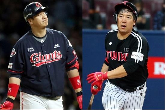 '야구의 날' 행사에 불참에 도마 위에 오른 이대호와 김현수. ⓒ 연합뉴스