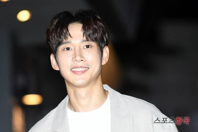 KBS 2TV 수목드라마 '저스티스' 종방연에 참석한 박성훈. 사진=조은정 기자 new@hankooki.com