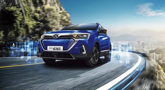 북경자동차가 2020년 국내 출시를 준비 중인 전기차 EX5(출처=북경자동차 홈페이지)© 뉴스1