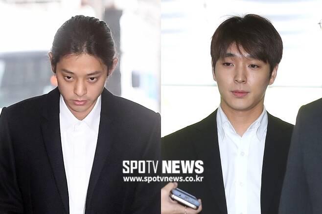 ▲ 집단 성폭행 혐의를 받는 정준영(왼쪽)-최종훈. ⓒ곽혜미 기자