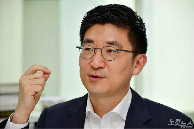 자유한국당 김세연 의원이 지난 5월 29일 오후 국회 의원회관에서 CBS노컷뉴스와 인터뷰를 하고 있다. 윤창원기자