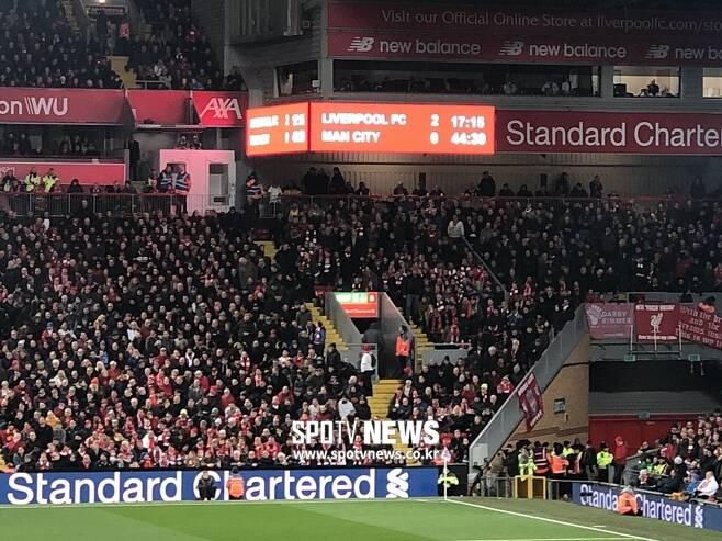 ▲ 리버풀이 전반 12분 만에 2골을 넣으면 전반을 2-0으로 마쳤다. ⓒ장우혁 통신원