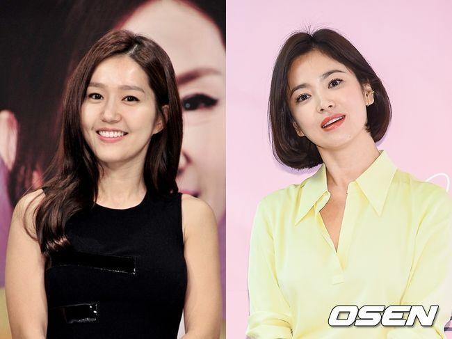 핑클 이진(왼쪽)과 송혜교가 우정을 자랑했다. MBC 제공, OSEN DB