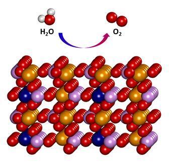 이론적으로 예측된 철/코발트 인산(FeCoPO₄) 촉매 물질의 구조 - UNIST 제공