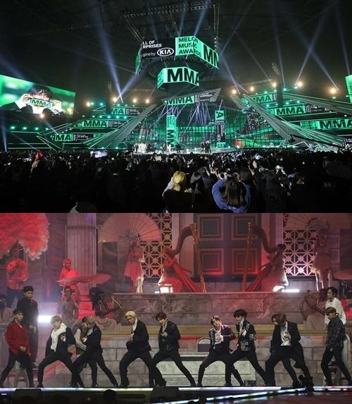 그룹 방탄소년단(BTS)이 'MMA 2019' 무대를 꾸몄다. 사진=멜론뮤직어워드