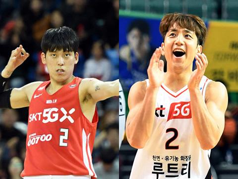 최준용(왼쪽)과 허훈. 박진업기자 upandup@sportsseoul.com