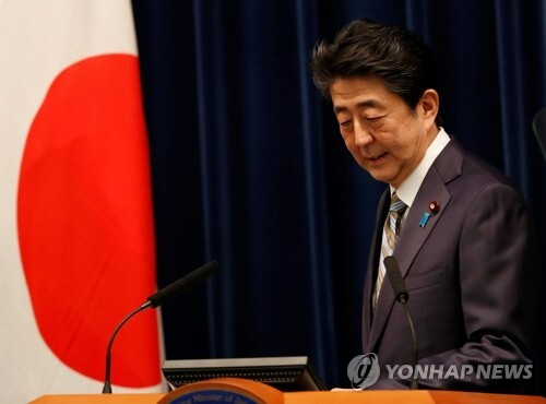 아베 신조(安倍晋三) 일본 총리 [로이터=연합뉴스 자료사진]