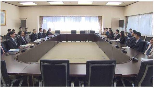 [서울=뉴시스] 일본 도쿄 경제산업성에서 16일 오전 한일 통상당국 간의 국장급 수출관리 정책대화가 진행되고 있다. <사진출처: NHK 화면 캡처> 2019.12.16