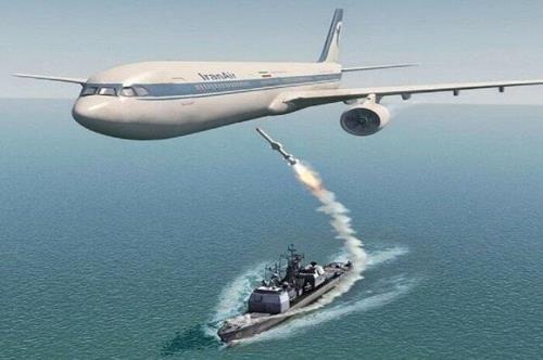 1988년 미군의 이란항공 여객기 격추 사건을 그린 이미지 [이란항공 홈페이지]