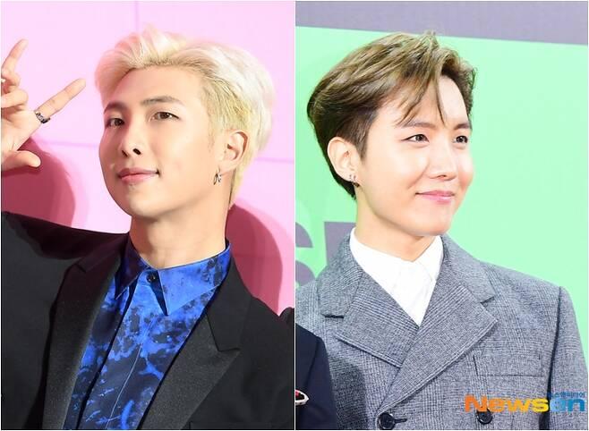 왼쪽부터 RM, 제이홉