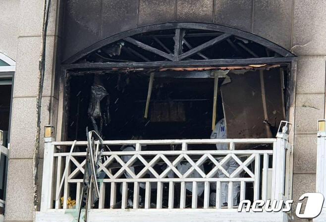 동해 폭발사고 현장감식. (뉴스1 DB) © News1