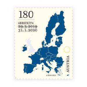 오스트리아 우체국의 '브렉시트 우표' [사진 출처=오스트리아 우체국]