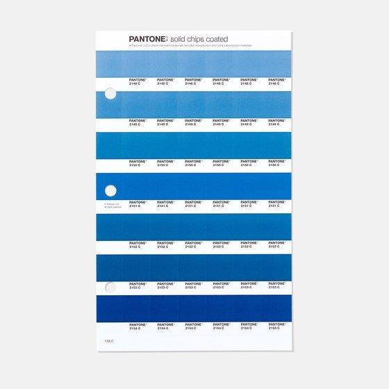 팬톤의 블루 컬러칩. 명도와 채도에 따라 다양한 블루 컬러가 있다. [사진 팬톤 홈페이지]