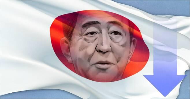 일본 아베 총리 지지율 하락/자료사진 (사진=연합뉴스 제공)