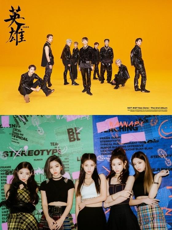 NCT 127, ITZY /사진제공=SM엔터테인먼트, JYP엔터테인먼트
