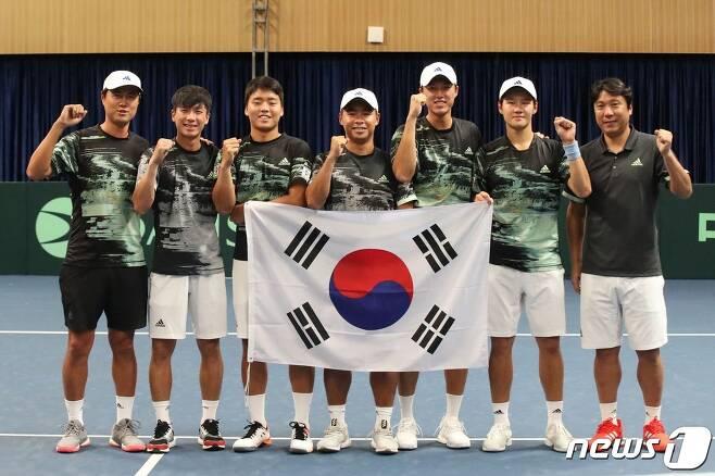 테니스 국가대표팀. (대한테니스협회 제공) © 뉴스1