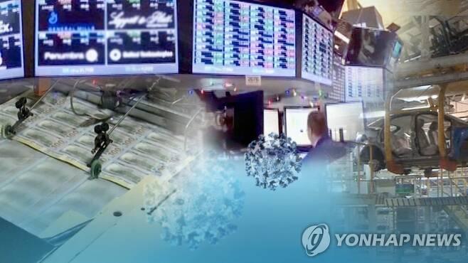 코로나 덮친 세계경제 성장전망 줄하향…각국 대책 부심(CG) [연합뉴스TV 제공]