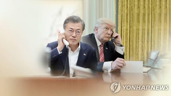 한미 정상 통화 (CG) [연합뉴스TV 제공]