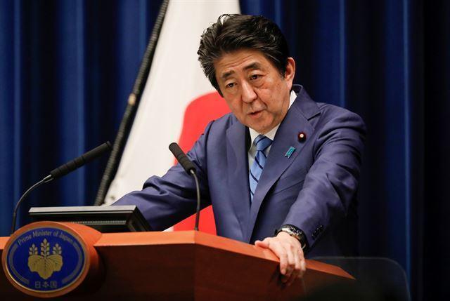 아베 신조 일본 총리. 도쿄=로이터 연합뉴스