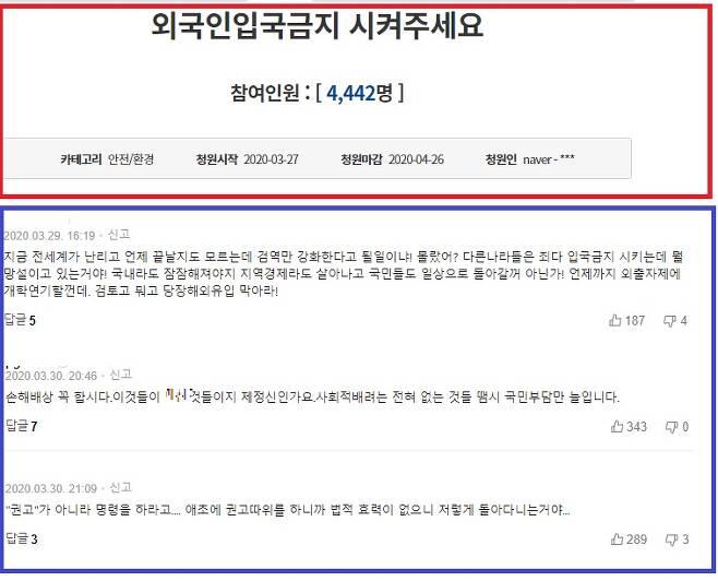 /사진 = 청와대 국민청원 홈페이지, 온라인 커뮤니티
