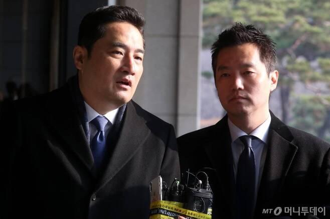 가로세로연구소 김세의 대표(오른쪽)과 강용석 변호사/사진=강민석 기자 msphoto94@