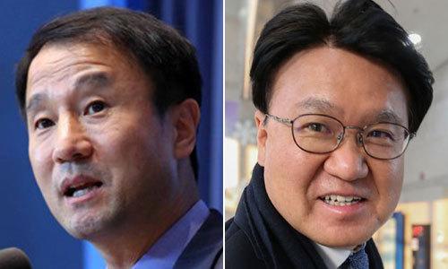 한병도 전 청와대 정무수석(왼쪽)과 황운하 전 대전지방경찰청장
