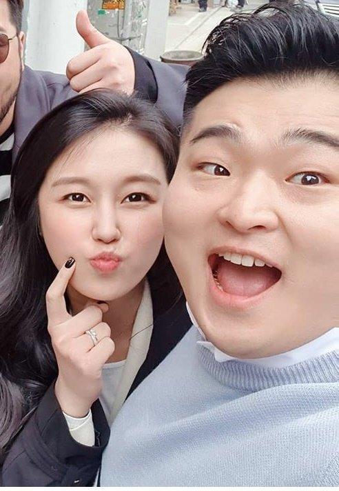 김유진 PD(왼쪽)와 이원일 셰프/사진=이원일 셰프 인스타그램