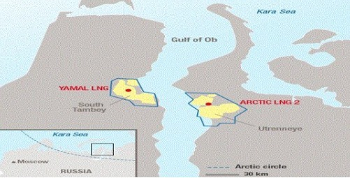 북 시베리아 기단(Gydan)반도에 위치한 아틱 LNG2 가스전.(삼성중공업 제공)© 뉴스1