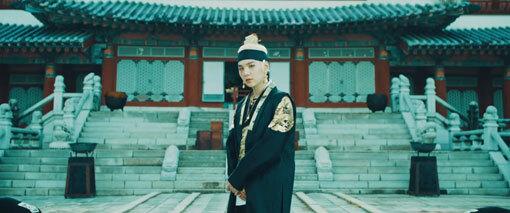 용인대장금파크에서 촬영한 슈가의 '대취타' 뮤직비디오의 한 장면. 사진제공 빅히트엔터테인먼트