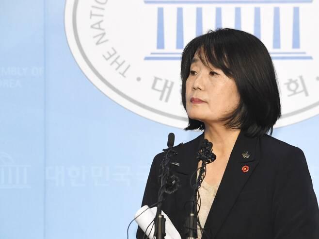 5월29일 윤미향 더불어민주당 의원 기자회견 ⓒ시사저널 최준필