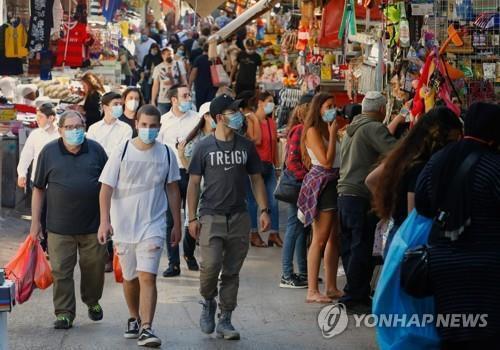 지난 5월 7일(현지시간) 이스라엘의 지중해 도시 텔아비브에 있는 한 시장.[AFP=연합뉴스]