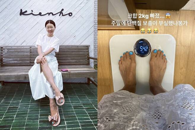 ▲ 안선영이 몸무게를 솔직하게 공개했다. 출처ㅣ안선영 SNS