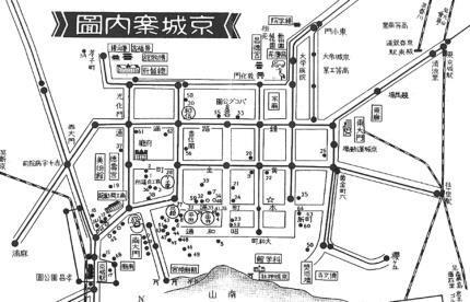 1934년쯤 경성관광협회의 '경성안내도'. 특수위안대라는 이름으로 운영되던 한국군 '위안부'의 서울지구 제1소대 서울 중구 충무로4가 148번지가 ☆표로 표시돼 있다.  도서출판 선인 제공