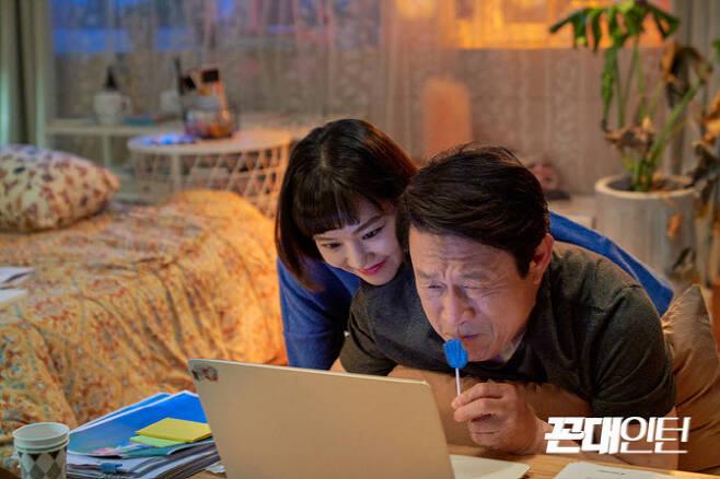 한지은(왼쪽) 김응수(사진=MBC)