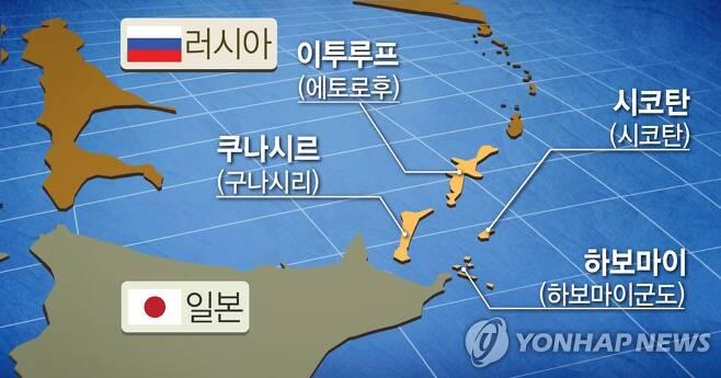 러일 영유권 분쟁 '남쿠릴 4개섬' (PG) [정연주 제작] 일러스트