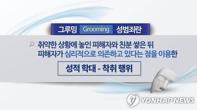 그루밍 성범죄란(CG) [연합뉴스TV 제공]