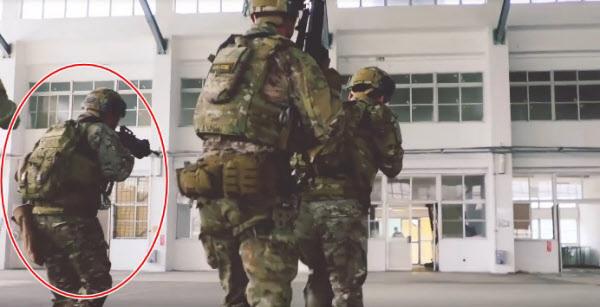 미군과 합동훈련 중인 대만군(빨간 원)./미군 제1특전단 페이스북 캡처