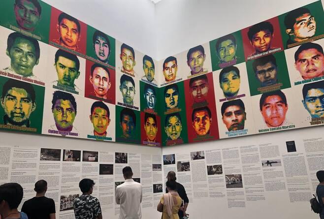 아이웨이웨이가 레고로 만든 멕시코 실종 교대생들의 얼굴 [연합뉴스 자료사진]