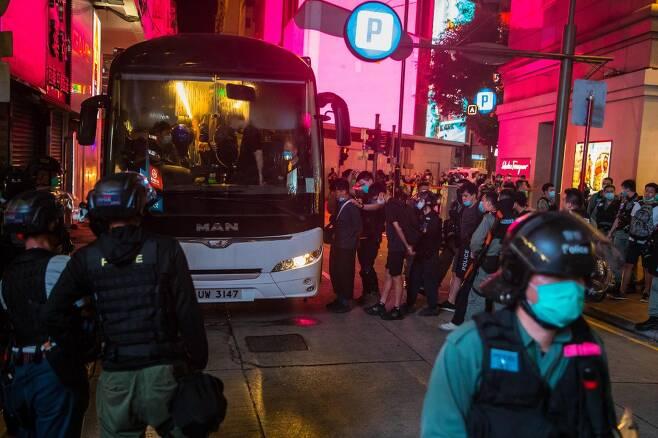 홍콩보안법 반대 시위 현장/사진=AFP