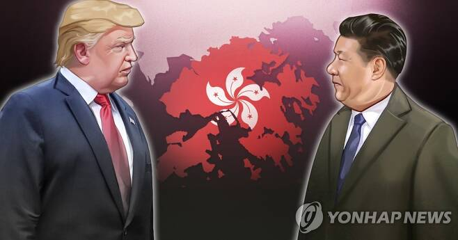 홍콩보안법·미중갈등 (PG) [장현경 제작] 일러스트
