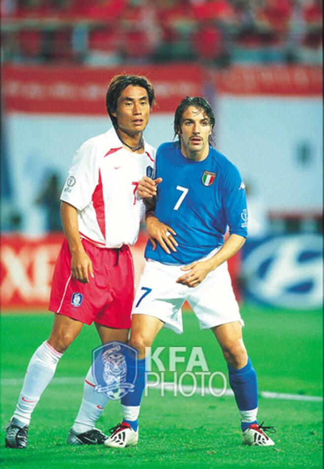 ▲ 2002 한일 월드컵 당시 김태영 ⓒ대한축구협회