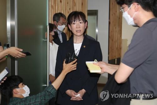 최선수 사망사건 관련 대한체육회 방문한 최윤희 문체부 2차관 [연합뉴스 자료사진]