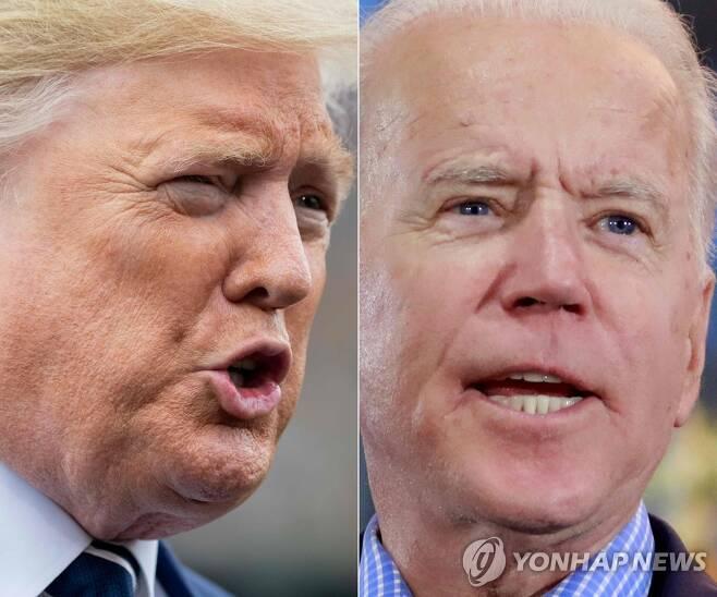 도널드 트럼프 대통령과 조 바이든 전 부통령 [AFP=연합뉴스 자료사진]
