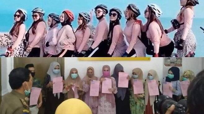 아체주에서 쫄티 입고 히잡 없이 자전거 탄 여성들 찾아내 사과 시켜 [트리뷴뉴스·재판매 및 DB 금지]