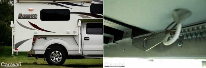 트럭캠퍼는 적재함에 실리는 적재물에 해당하므로 안전하게 고정되어야 한다
