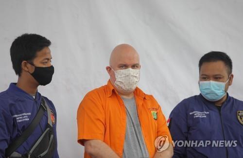 인도네시아서 미성년 성매매로 체포된 미국인 러스 앨버트 메들린(46) [로이터=연합뉴스]