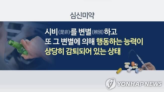 심신미약이란(CG) [연합뉴스TV 제공]