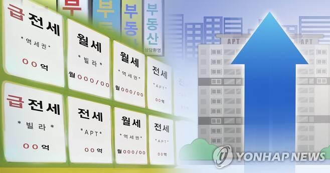 전세 품귀, 월세 전환 가속(PG) [연합뉴스 자료사진]
