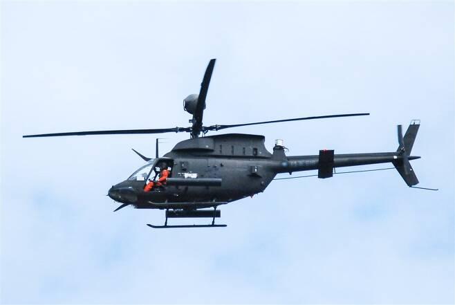 추락 사고가 난 대만군 OH-58D 헬기 [대만 중앙통신사 홈페이지. 재판매 및 DB 금지]